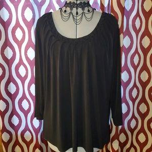 Jaclyn Smith Slim & Smooth 3/4 Sleeve Blouse